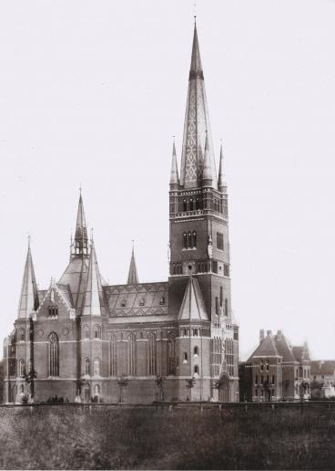 Kirche St. Johannis Harvestehude, Hamburg – Foto aus der Bauzeit