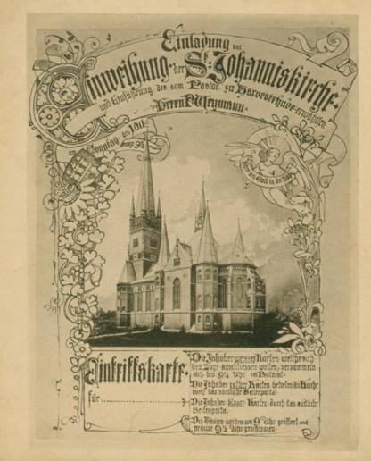 Kirche St. Johannis Harvestehude, Hamburg – Einweihung der Kirche